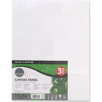 Daler-Rowney Simply 11' x 14' Canvas Panels Pack, 3 Pieces