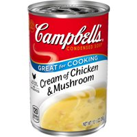 Campbell'sCondensed Cream of Chicken & Mushroom Soup, 10.5 oz. Can