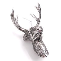 Holiday Time Silver Deer Head ornament