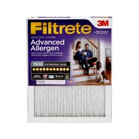 Filtrete 24x24x1, Advanced Allergen, Virus and Bacteria Reduction HVAC Furnace Air Filter, 1500 MPR, 1 Filter