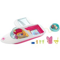 Barbie Estate Dolphin Magic Ocean View Boat with 3-Puppies & Accessories