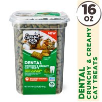 Special Kitty Dental Crunchy & Creamy Cat Treats, Chicken Flavor, 16 oz