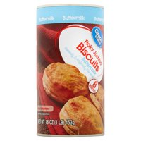 Great Value Buttermilk Flaky Jumbo Biscuits, 16 oz, 8 Count