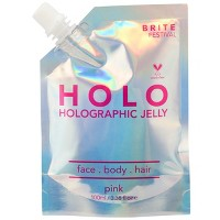 Brite Festival Holographic Jelly - Pink - 3.38 fl oz