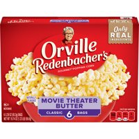 Orville Redenbacher's Movie Theater Butter Microwave Popcorn, 3.29 Ounce Classic Bag, 6-Count