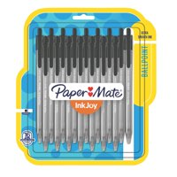 Paper Mate® InkJoy® 100RT Retractable Ballpoint Pens, Medium Point, Black, 16 Pack