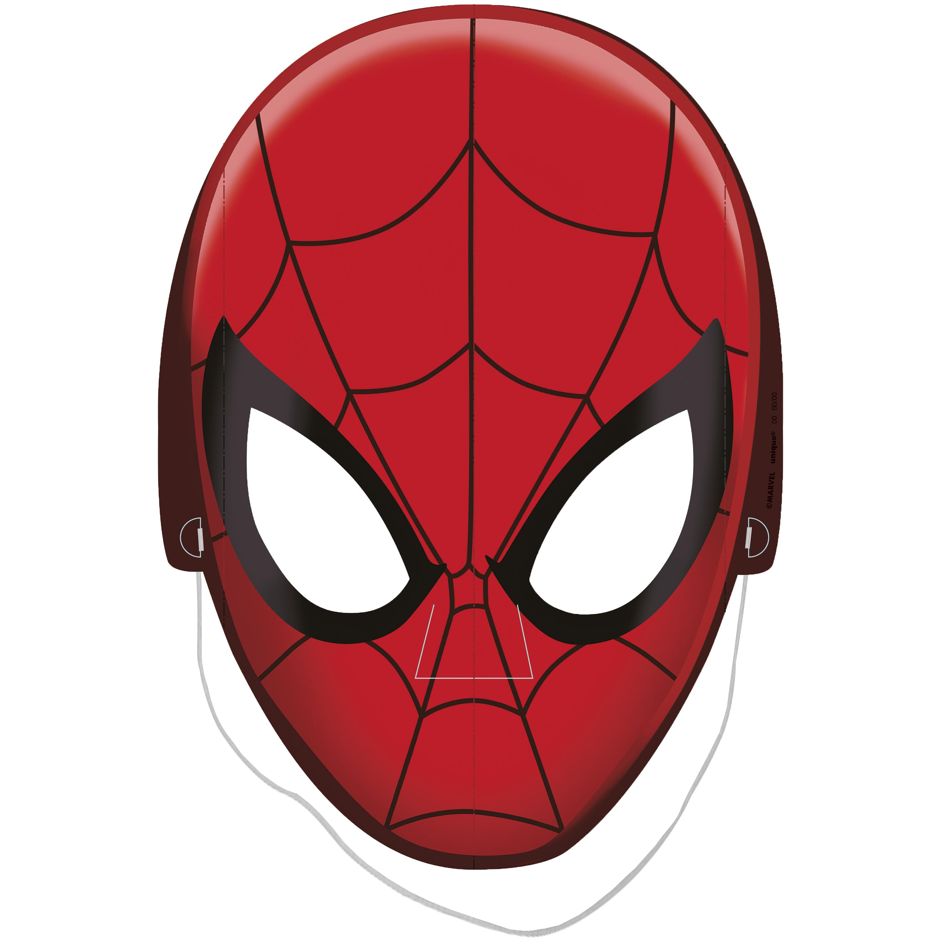 Spiderman Paper Party Masks, 8ct