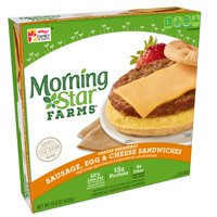 Morningstar Farms Veggie Breakfast Sausage Egg & Cheese 14.8 oz 4 ct