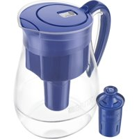 Brita Large 10 Cup Water Filter Pitcher with 1 Longlast Filter, Reduces Lead, BPA Free - Monterey, Blue