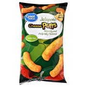 Great Value Jalapeno Cheese Puffs, 8 Oz.
