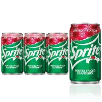 Sprite Winter Spice Cranberry - 6pk/6.75 fl oz Mini Cans