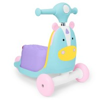 Skip Hop Kids 3-in-1 Ride On Scooter and Wagon Toy - Unicorn