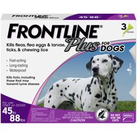 FRONTLINE Plus for Large Dogs (45-88 lbs) Flea and Tick Treatment