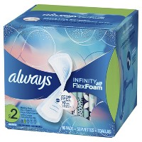 Always Infinity Ave Flex Foam Pads - Size 2 - 16ct