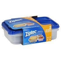 Ziploc Divided Rectangle Containers & Lids