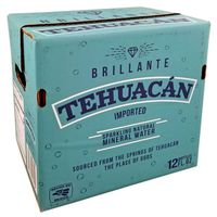 Brilliant Tehuacan 12 Ounce Naturally Mineralized Sparkling Mineral Water in Bottles