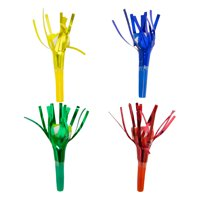 Bold Birthday Foil Fringe Party Blowers, 4ct