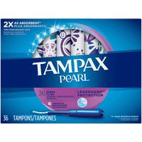 Tampax Pearl, Ultra, Plastic Tampons, Unscented