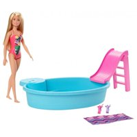 Barbie Estate Playset with Blonde Barbie Doll, Pool, Slide & Accessories