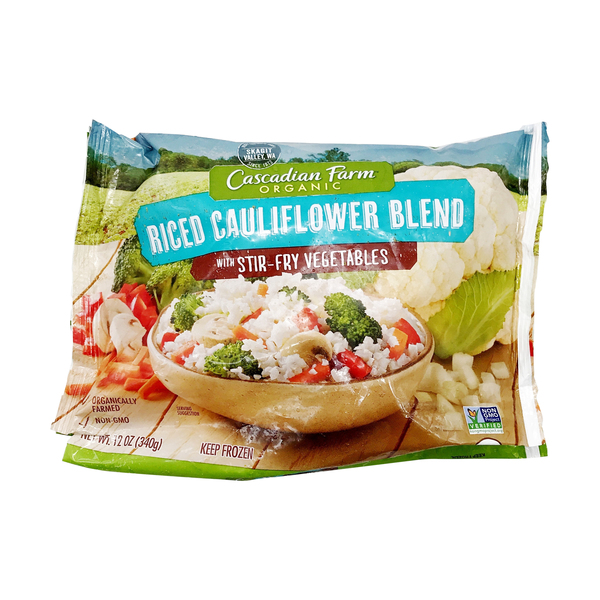 Cascadian farm Organic Riced Cauliflower Blend with Stir-fry Vegetables, 12 oz
