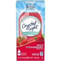 Crystal Light Energy On The Go Wild Strawberry Drink Mix - 10pk/0.11oz Pouches