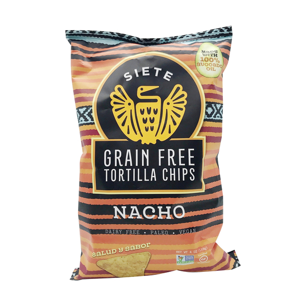 Siete family foods Nacho Grain Free Tortilla Chips, 4 oz