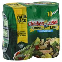 Chicken of the Sea Tuna, Chunk Light, in Water, Value Pack