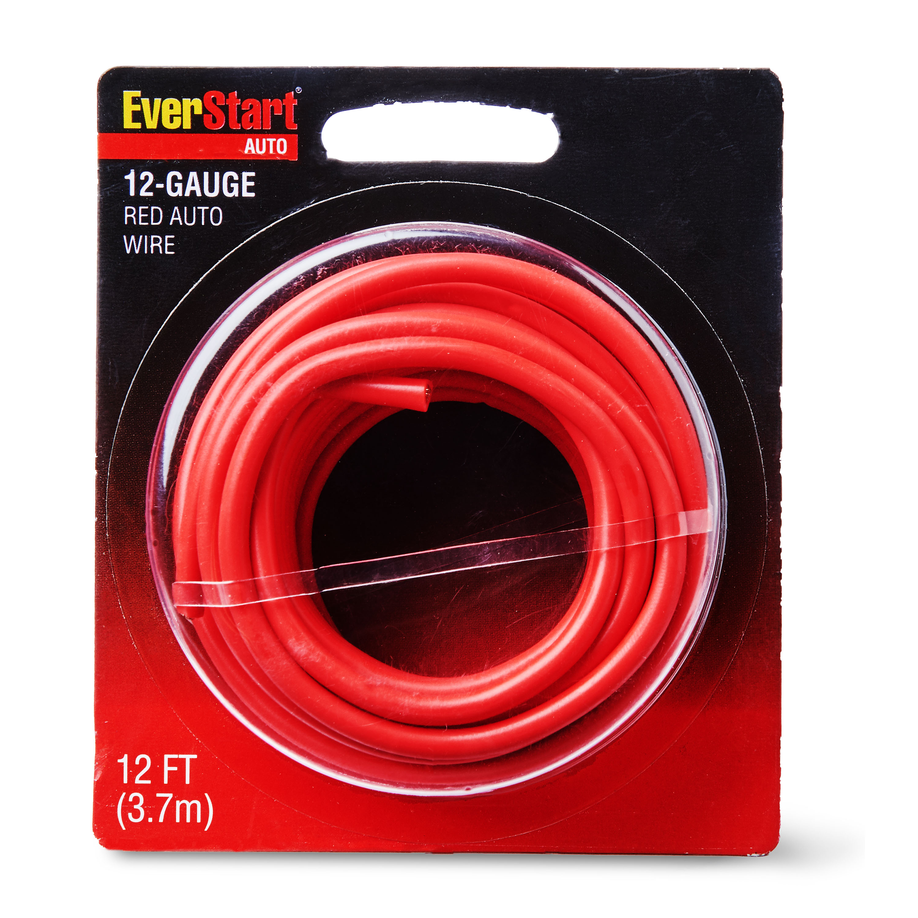 EverStart 12-Gauge Auto Wire, Red Wire, 12 Feet, Light Swith to Fuse Block or Relay for Car.