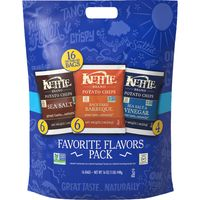 Kettle Brand Potato Chips Variety Pack, Sea Salt, Sea Salt & Vinegar, Backyard BBQ