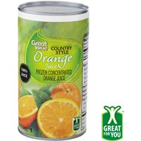 Great Value Country Style Orange Juice, Frozen Concentrate, 12 fl oz