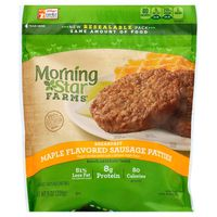 Morning Star Farms Veggie Breakfast Sausage Patties Maple Flavored