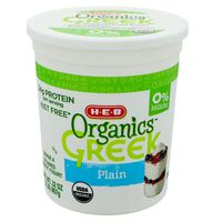 H-E-B Plain Organics Greek Yogurt