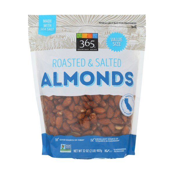 365 everyday value® Roasted & Salted Almonds, 32 oz