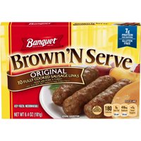 Banquet Brown N Serve Original Sausage Links 6.4 Ounce 10-Count