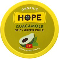 Hope Foods Guacamole, Organic, Green Chile, Spicy, Hot