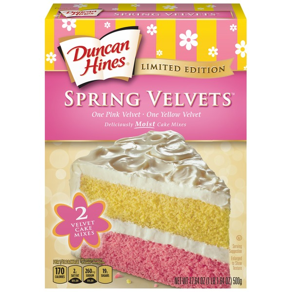 Duncan Hines Spring Velvets Cake Mixes