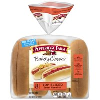 Pepperidge Farm Bakery Classics Top Sliced Sweet Hawaiian Hot Dog Buns, 14 oz. Bag, 8-pack