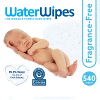 WaterWipes Sensitive Baby Wipes, Fragrance-Free, 540 Count