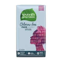 Seventh Generation Free & Clear Ultra Thin Super Long Pads - 32ct