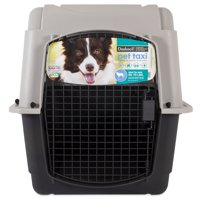 Doskocil Pet Taxi Carrier - Ideal for pets 50 -70 lbs, Gray/Black