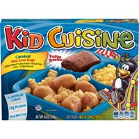 KID CUISINE Carnival Mini Corn Dogs Frozen Meal With Corn and Fudge Brownie, 8.8 oz.