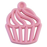 Itzy Ritzy Silicone Teether Cupcake - Pink