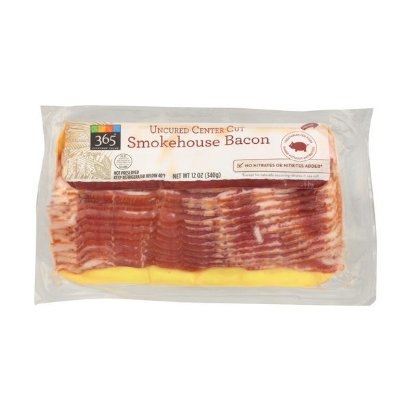 365 Uncured Smokehouse Bacon, 12 oz