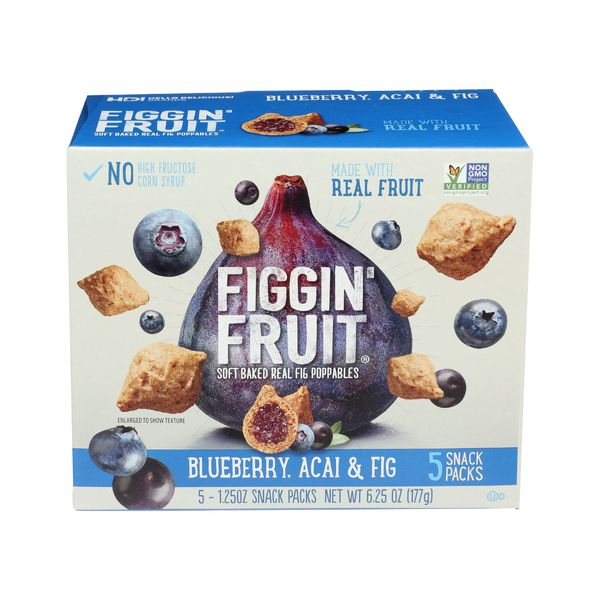 Figgin' fruit Blueberry Acai & Fig Poppables, 5 ct