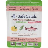 Safe Catch Pink Salmon, Wild Pacific, Citrus Dill