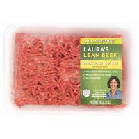 Lauras Beef Beef, Ground, 92/8