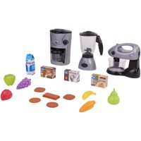 Kid Connection Kitchen Play Set with Mixer, Coffee Maker, and Blender, 18 Pieces