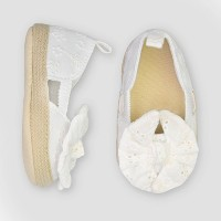 Baby Girls' Eyelet Espadrille - Just One You® made by carter's White 0-3M