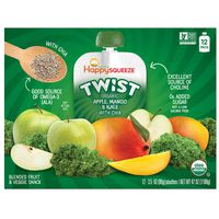 Happy Squeeze Organic Kale Apple And Mango, 12 x 3.5 oz