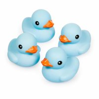 Rubber Duck, Light Blue, 4pk